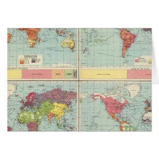 World population Map Card