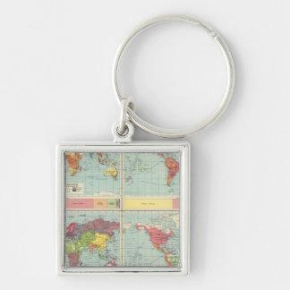 World population Map Key Ring