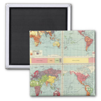 World population Map Magnet