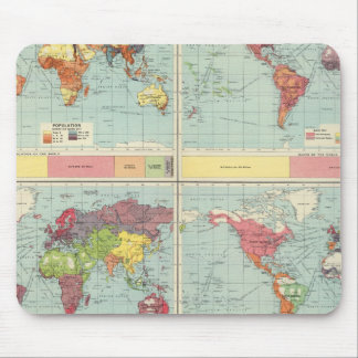 World population Map Mouse Pad