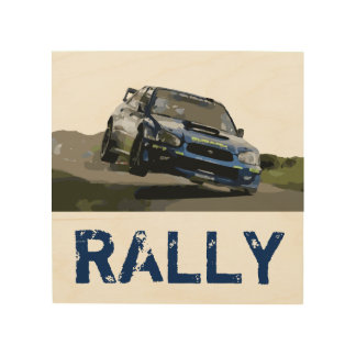 WORLD RALLY - WRX STI WOOD WALL DECOR