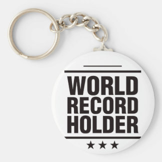 World Record Holder! Basic Round Button Key Ring
