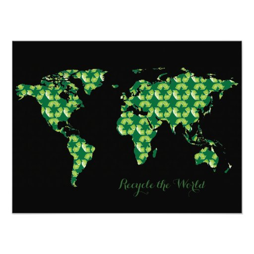 world recycled photographic print