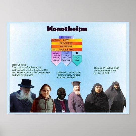 World Religions, Monotheisrm Poster