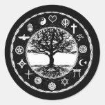 World Religions Peace Tree of Life Round Sticker