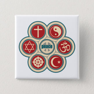 World Religious Peace 15 Cm Square Badge
