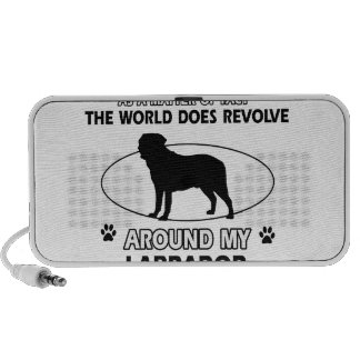 World revolves around my labrador travelling speakers
