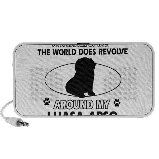 World revolves around my lhasa apso iPod speakers