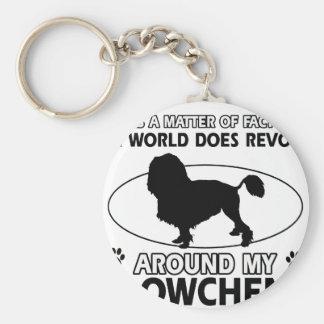 World revolves around my lowchen keychain