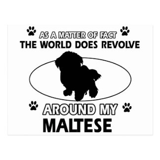 World revolves around my Maltese Postcard