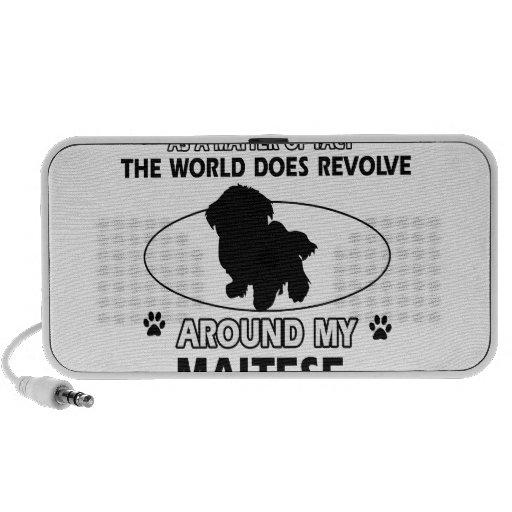 World revolves around my Maltese Laptop Speakers