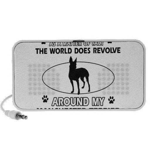 World revolves around my Manchester terrier iPod Speakers