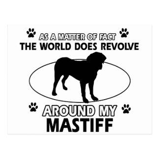 World revolves around my Mastiff Postcard