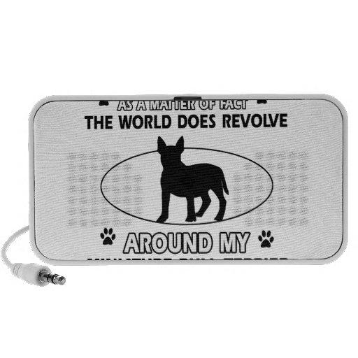 World revolves around my miniature bull terrier iPod speakers