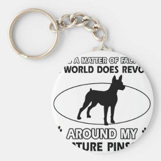 World revolves around my miniature pinscher keychain