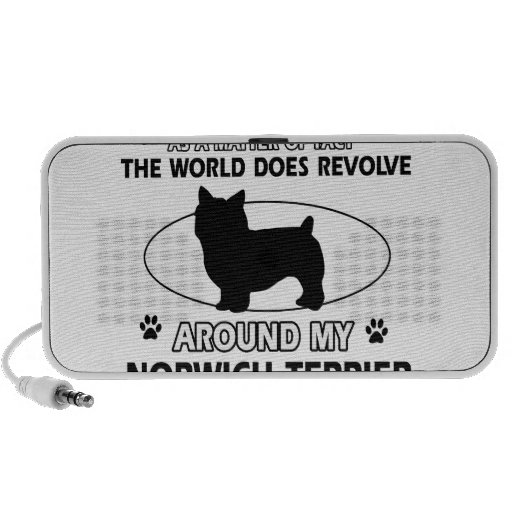 World revolves around my norwhic terrier iPhone speakers