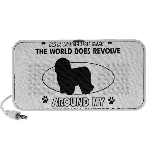 World revolves around my old english sheepdog travel speakers