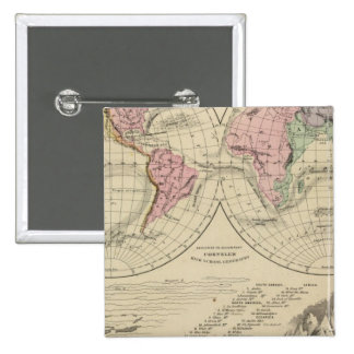 World, river systems 15 cm square badge