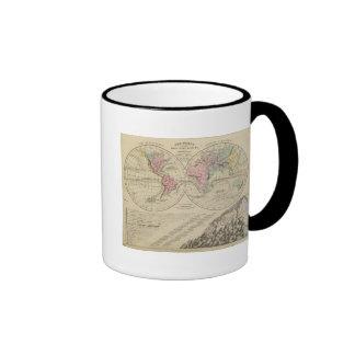 World, river systems coffee mug