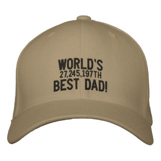World s 27 245 197th Best Dad Embroidered Baseball Cap