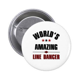 World s amazing Line dancer Pinback Buttons