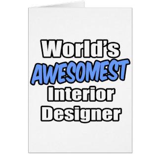 World s Awesomest Interior Designer Greeting Card