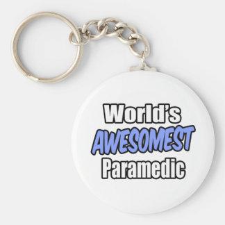 World s Awesomest Paramedic Keychains