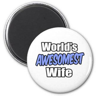World s Awesomest Wife Fridge Magnet