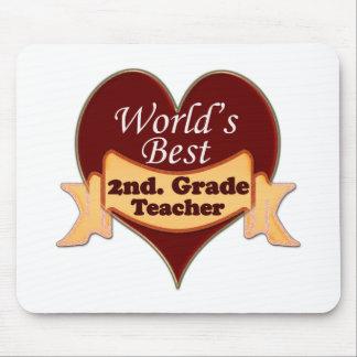 World s Best 2nd Grade Teacher Mousepad