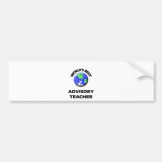 World s Best Advisory Teacher Bumper Sticker