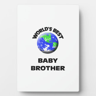 World s Best Baby Brother Photo Plaques