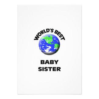 World s Best Baby Sister Invites