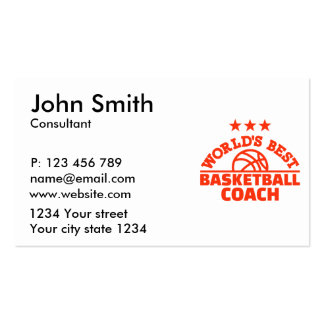 World's best basketball coach pack of standard business cards