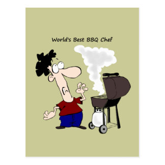 World s Best BBQ Chef Fun Quote for him Postcard