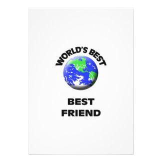 World s Best Best Friend Personalized Announcements