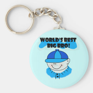 World s Best Big Bro Tshirts and Gifts Key Chain