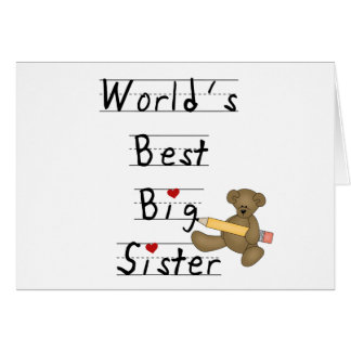 World s Best Big Sister Greeting Card