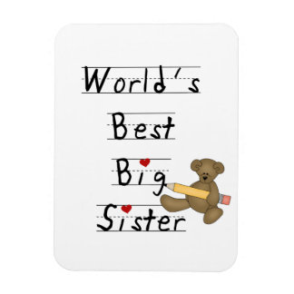 World s Best Big Sister Gifts Flexible Magnet