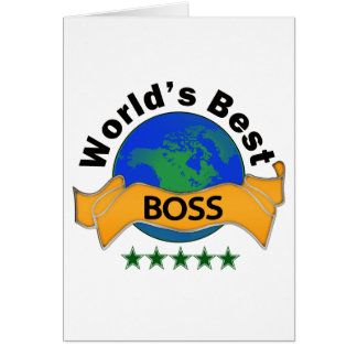 World s Best Boss Card