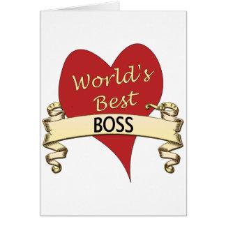 World s Best Boss Cards