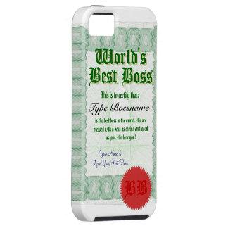 World s Best Boss Certicate iPhone 5 Case
