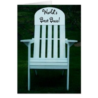 World s Best Boss Chair Card