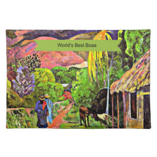 World s Best Boss fine art Gauguin painting Place Mat