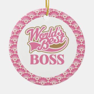 World's Best Boss Gift Ornament