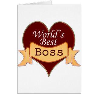 World s Best Boss Greeting Card