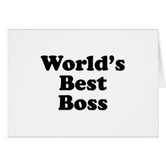 World s Best Boss Greeting Cards