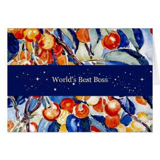 World s Best Boss - Theo van Rysselberghe artwork Greeting Cards