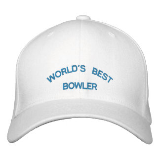 WORLD S BEST BOWLER EMBROIDERED HATS