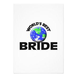 World s Best Bride Custom Announcement