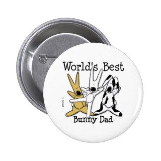 World s Best Bunny Dad Button